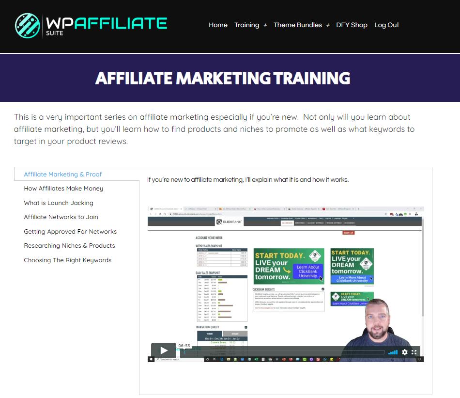 Affiliate marketing training-WP Affiliate Suite